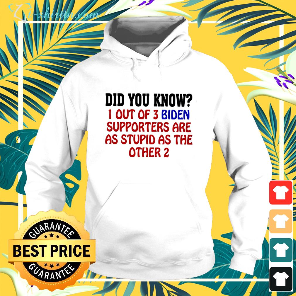 Did you know 1 out of 3 Biden supporters are as stupid as the other 2 hoodie