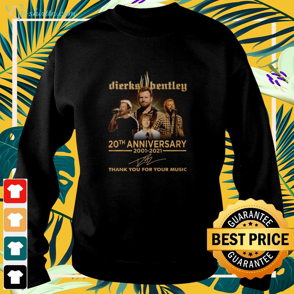 Dierks Hentley 20th Anniversary 2002-2021 thank you for the memories signature sweater
