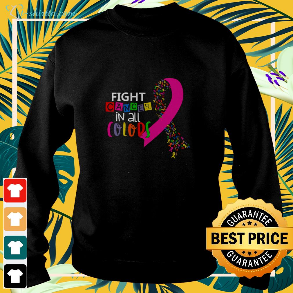 Fight cancer in all colors sweater