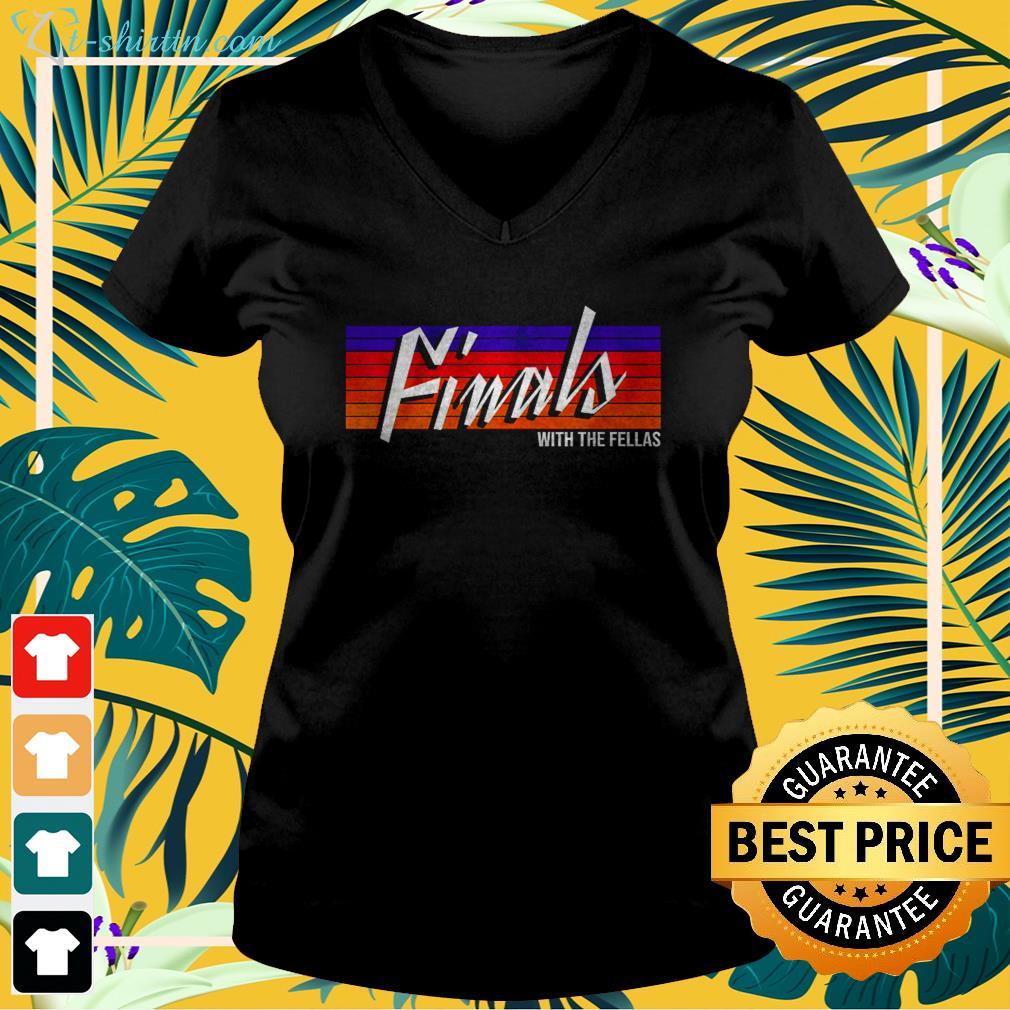 Finals with The Fellas Suns  v-neck t-shirt