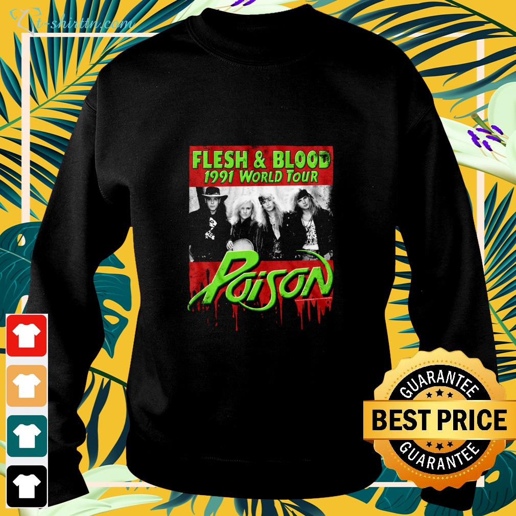Flesh and Blood 1991 world tour Poison Rock band sweater