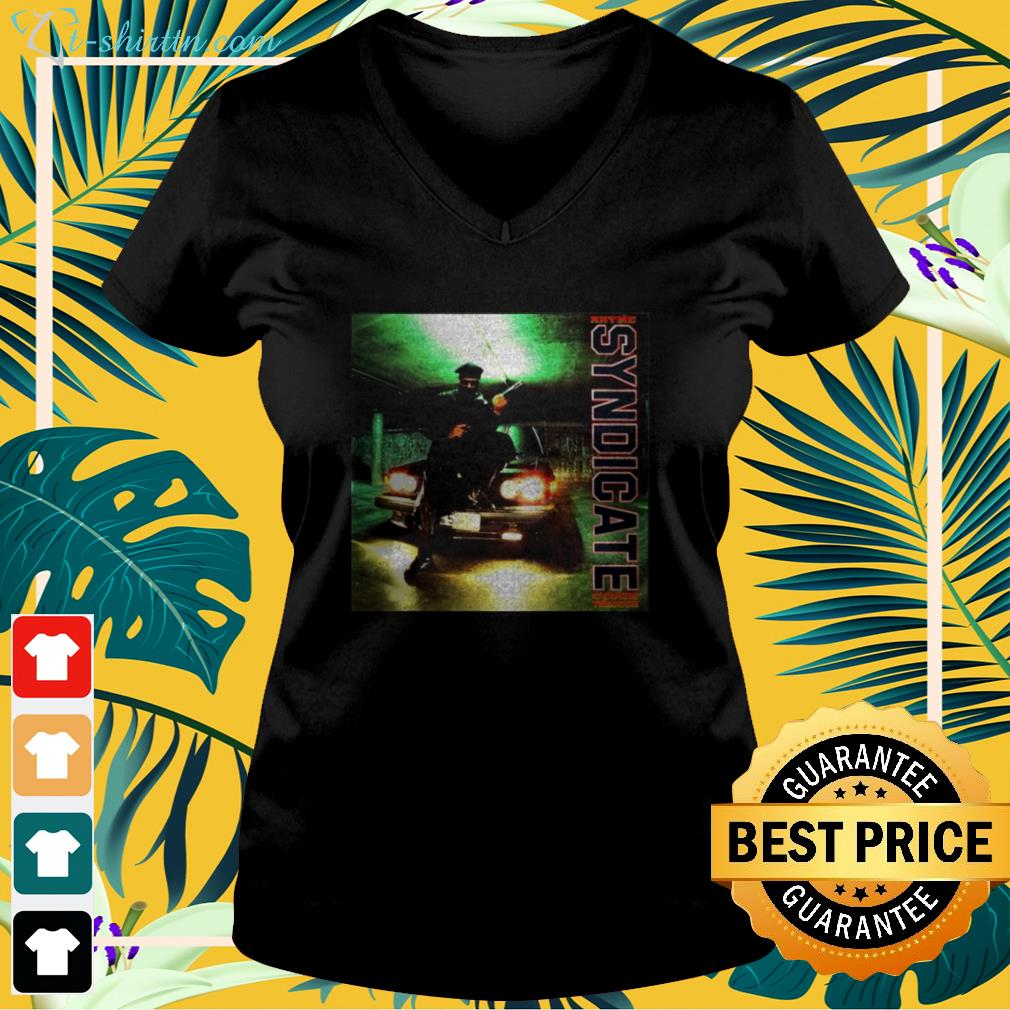 Funny Rhyme Syndicate Comin' Through v-neck t-shirt