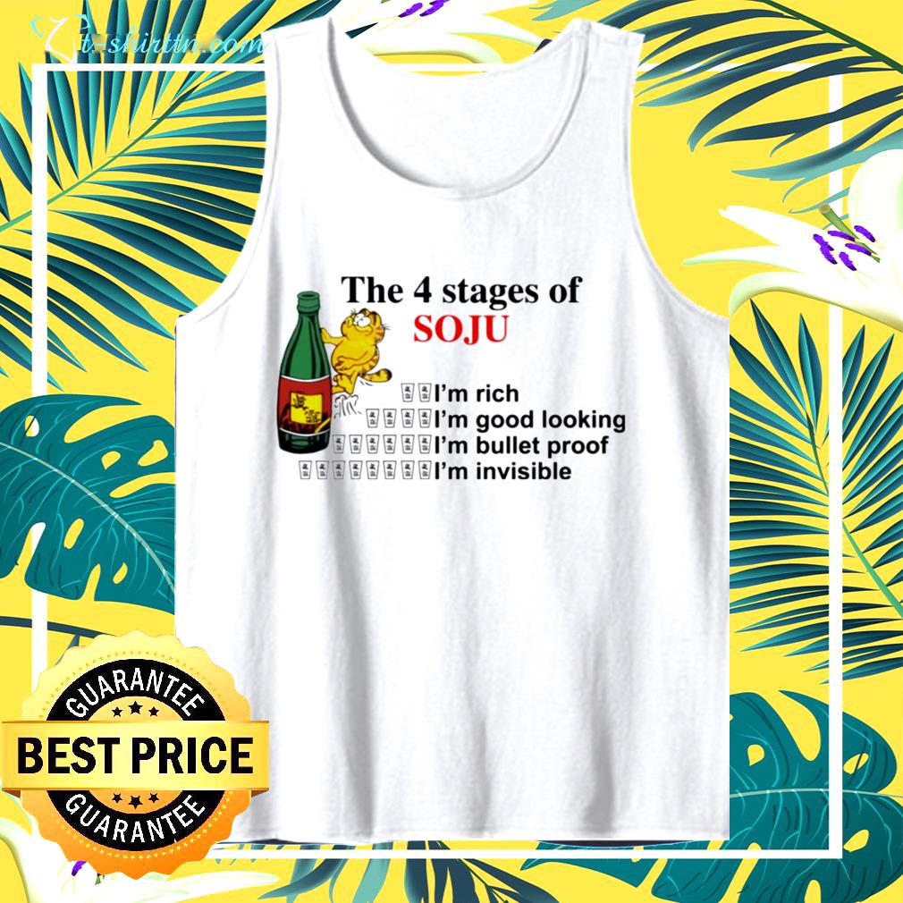Garfield the 4 stages of soju tank top
