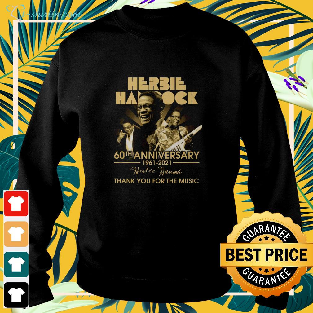 Herbie Hancock 60th Anniversary 1961-2021 thank you for the music signature sweater