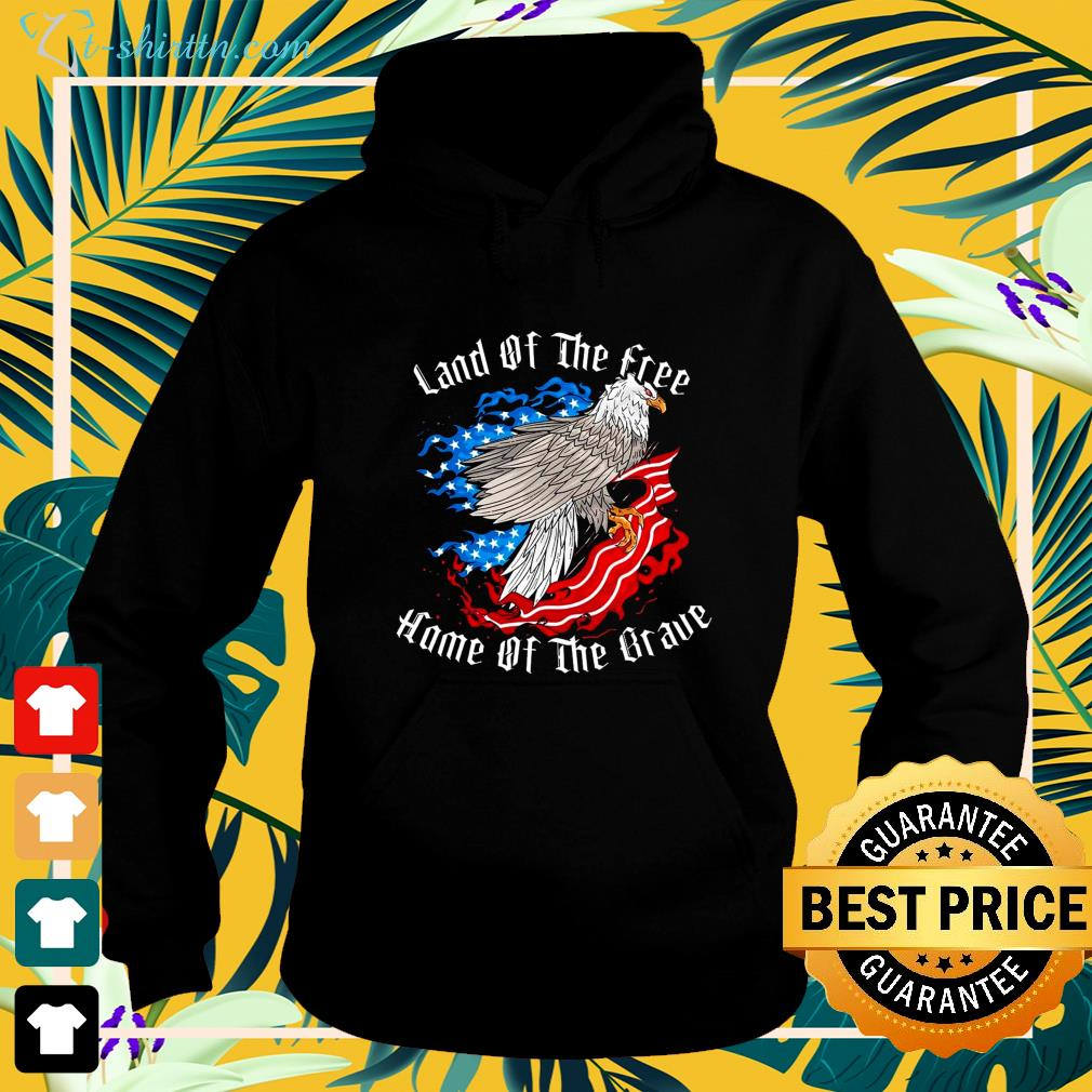 Hot Land of the free home of the brave hoodie