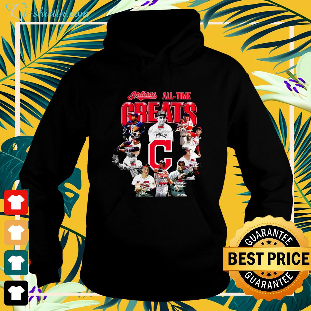Indians all time Greats signatures hoodie