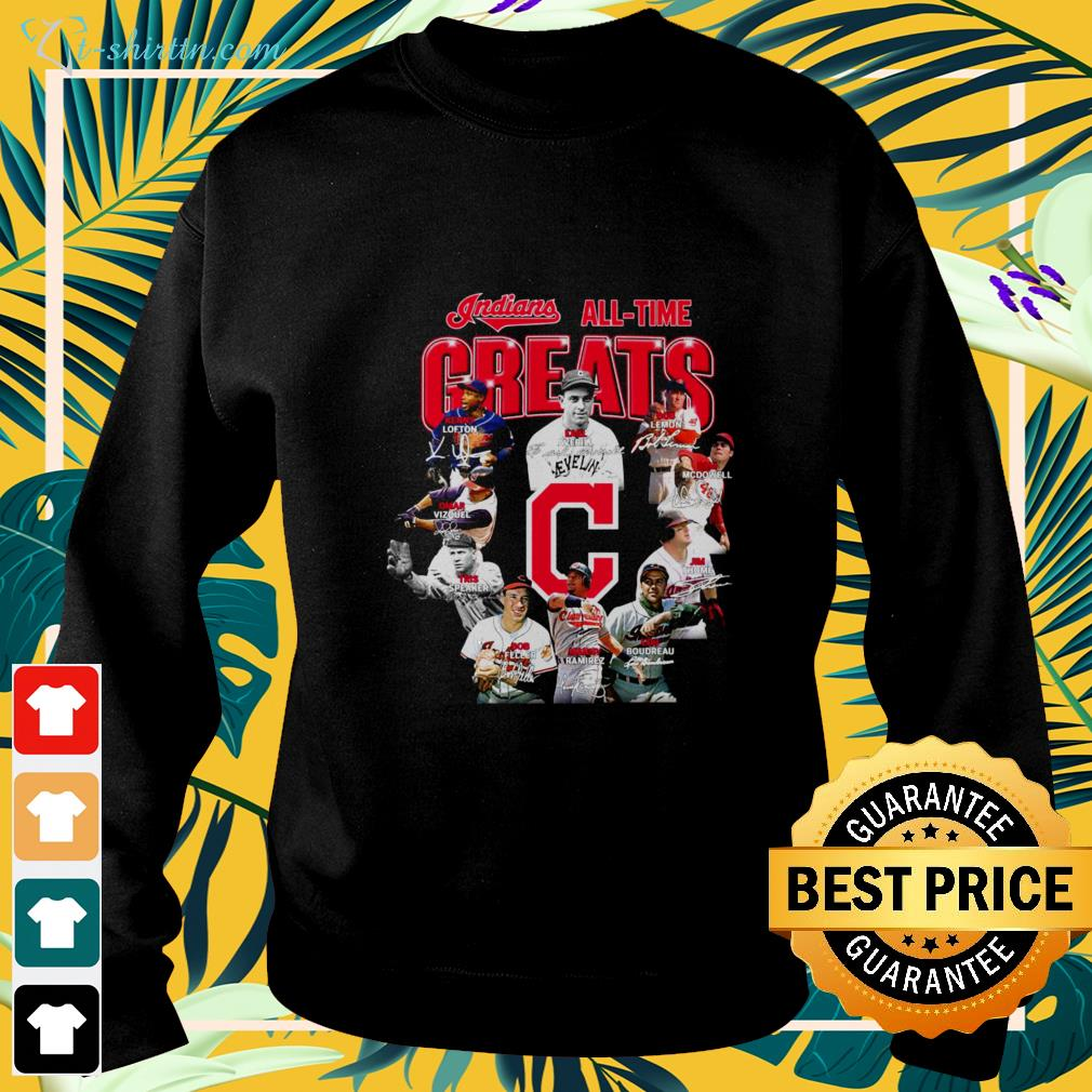 Indians all time Greats signatures sweater