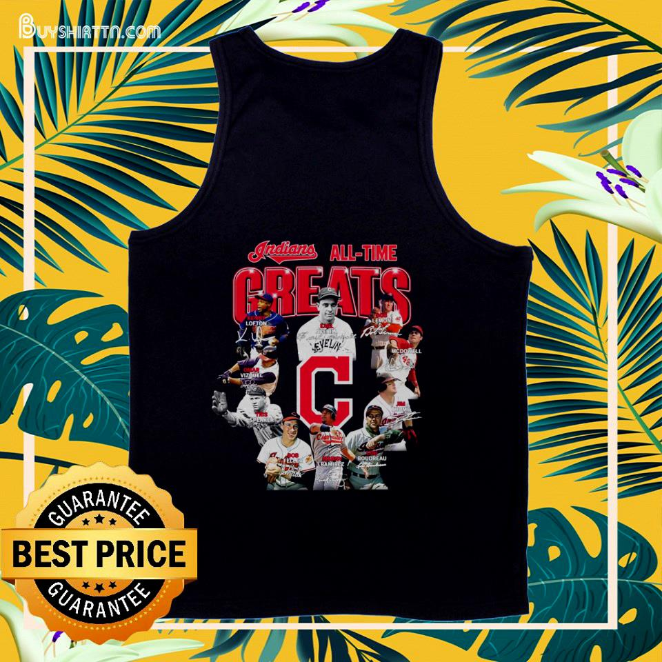 Indians all time Greats signatures tank top