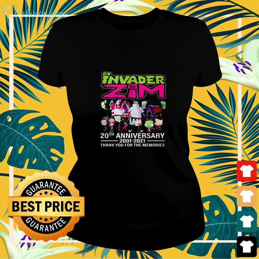 Invader Zim 20th Anniversary 2001-2021 thank you for the memories ladies-tee