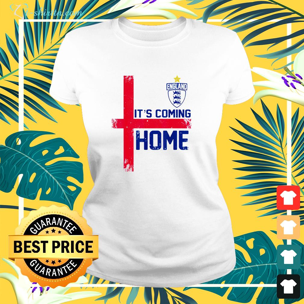It's Coming Home England Football soccer Jersey style retro ladies-tee