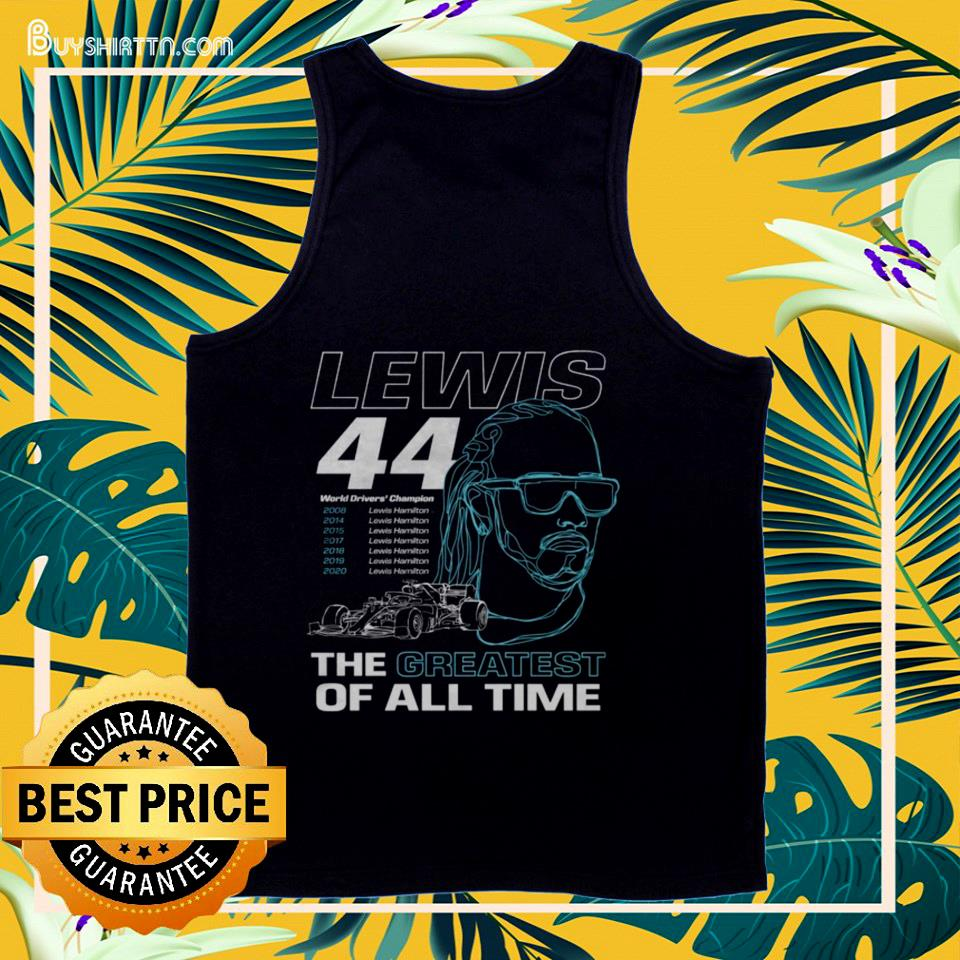 Lewis the greatest of all time tank top