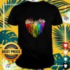 My Neighbor Totoro Characters colorful dripping heart shirt