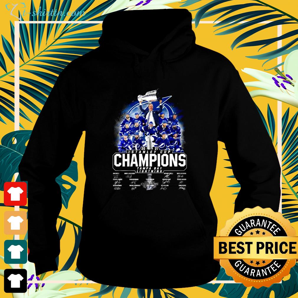 Official 2021 Stanley Cup Champions Tampa Bay Lightning signature hoodie