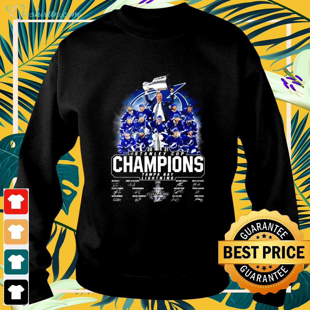 Official 2021 Stanley Cup Champions Tampa Bay Lightning signature sweater
