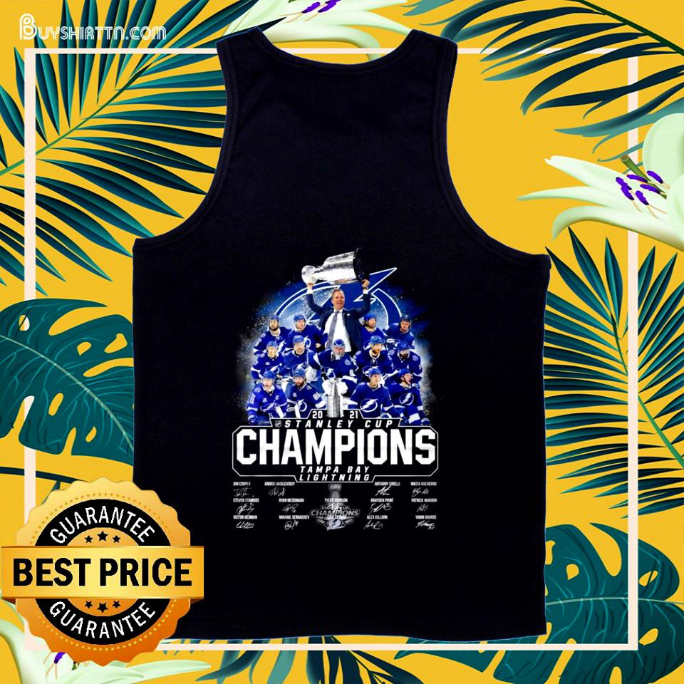 Official 2021 Stanley Cup Champions Tampa Bay Lightning signature tank top