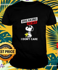 Snoopy and Woodstock breaking news I don't care shirt
