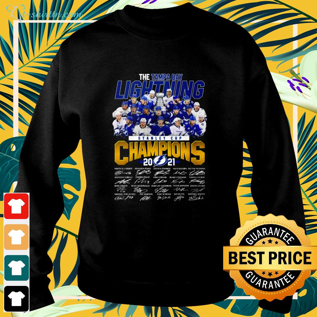 Stanley Cup Champions 2021 The Tampa Bay Lightning signature sweater