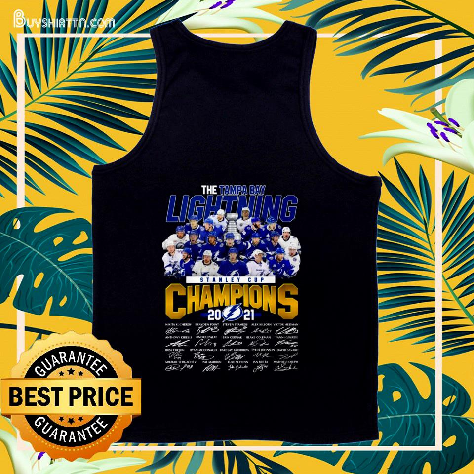 Stanley Cup Champions 2021 The Tampa Bay Lightning signature tank top