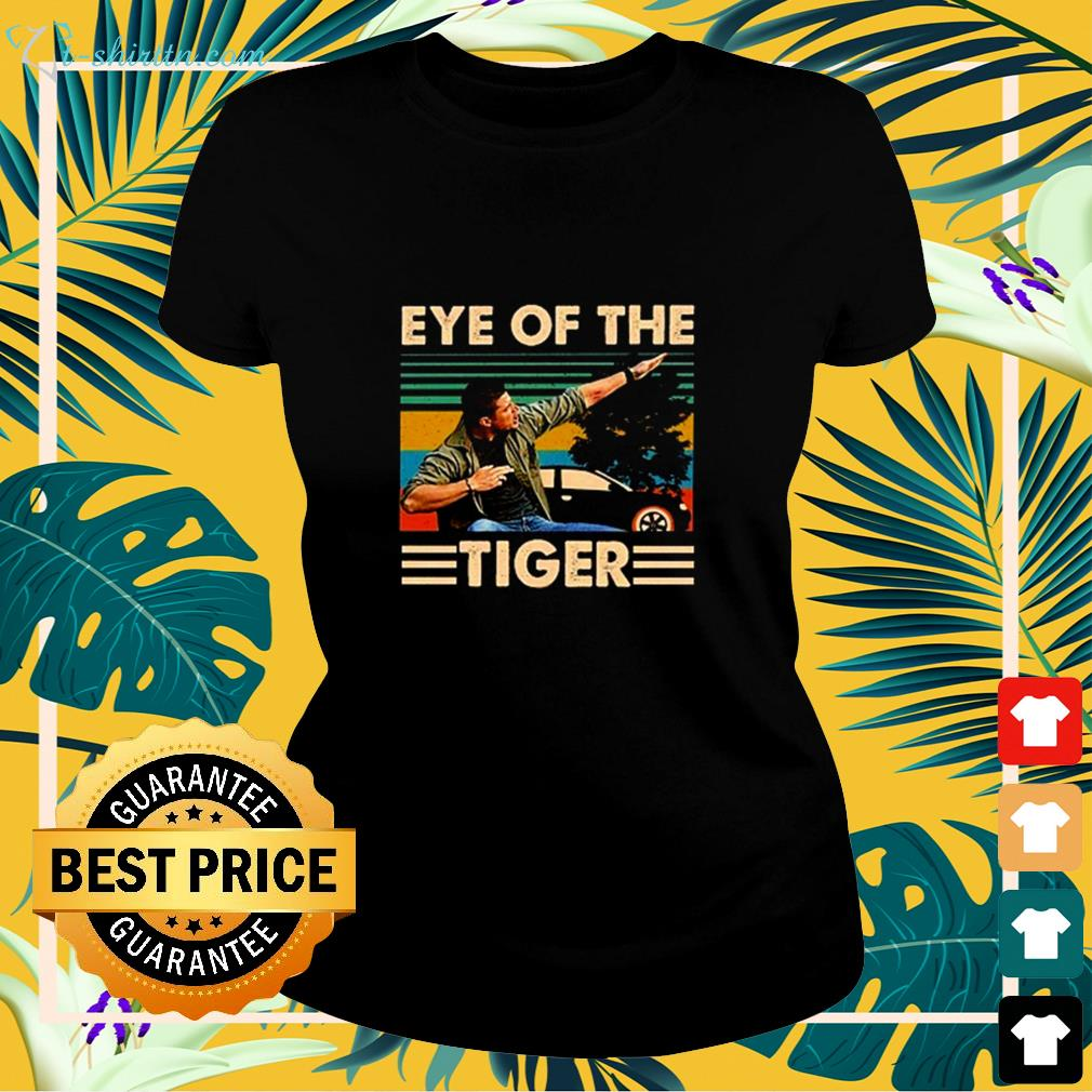 Supernatural Dean Winchester Eye Of The Tiger  ladies-tee