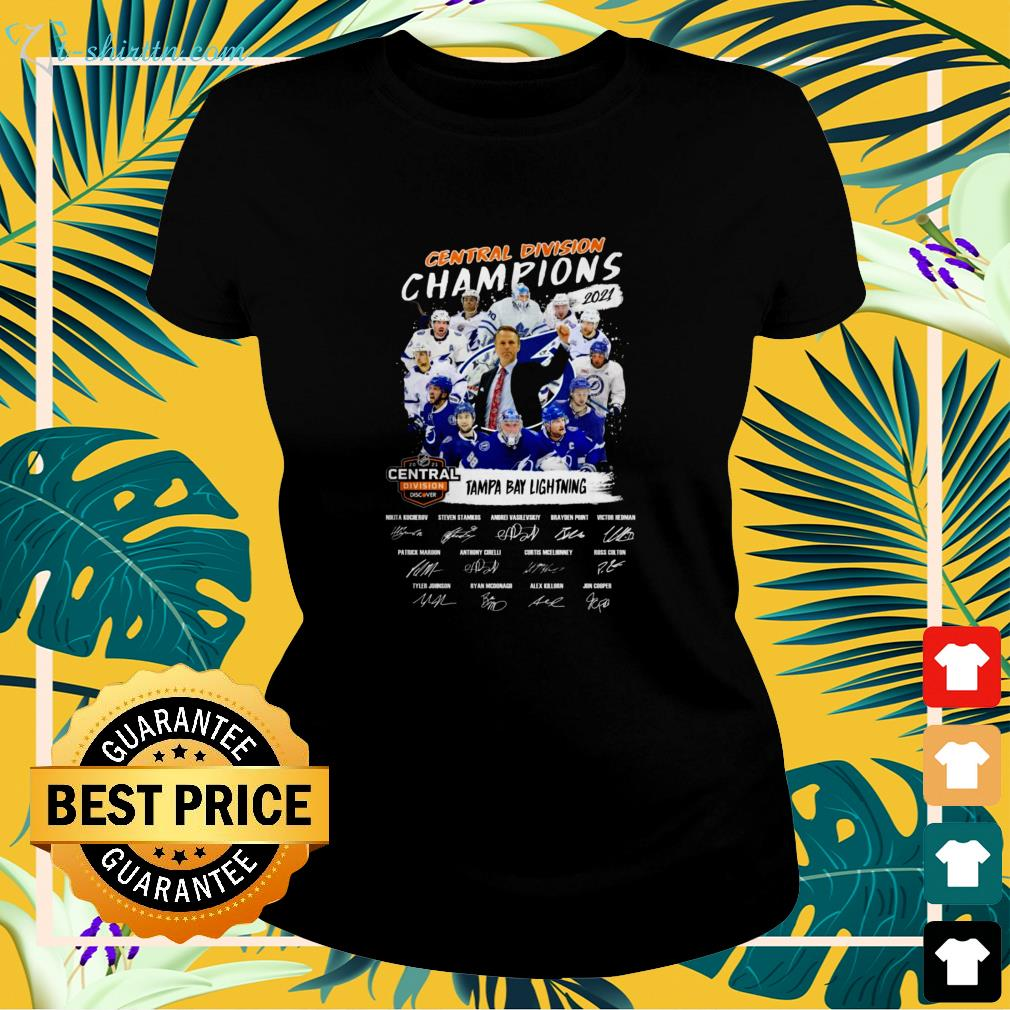 Tampa Bay Lightning Central Division Champions 2021 signature ladies-tee