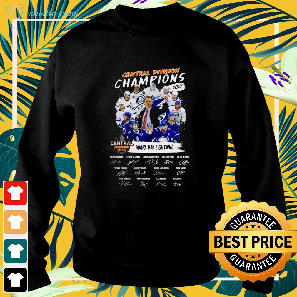 Tampa Bay Lightning Central Division Champions 2021 signature sweater