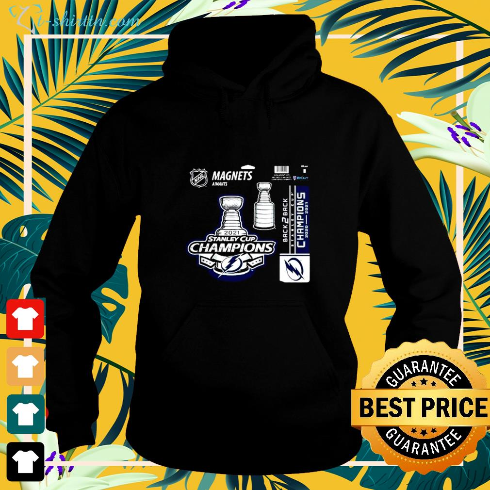 Tampa Bay Lightning magnets aimants 2021 Stanley Cup Champions hoodie