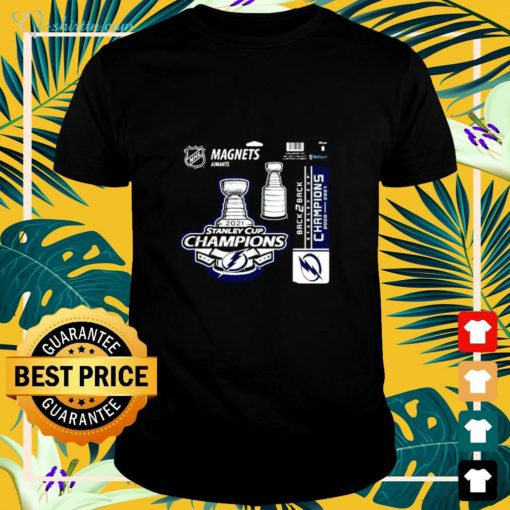 Tampa Bay Lightning magnets aimants 2021 Stanley Cup Champions shirt