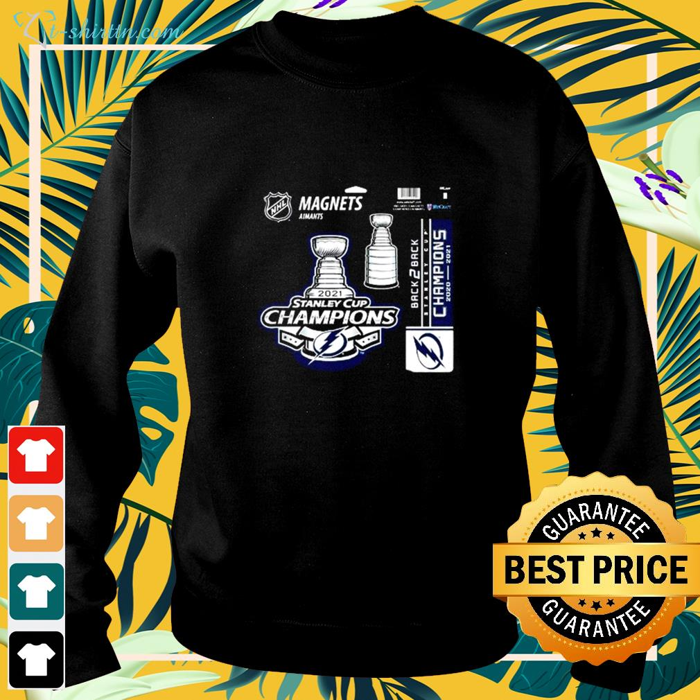 Tampa Bay Lightning magnets aimants 2021 Stanley Cup Champions sweater