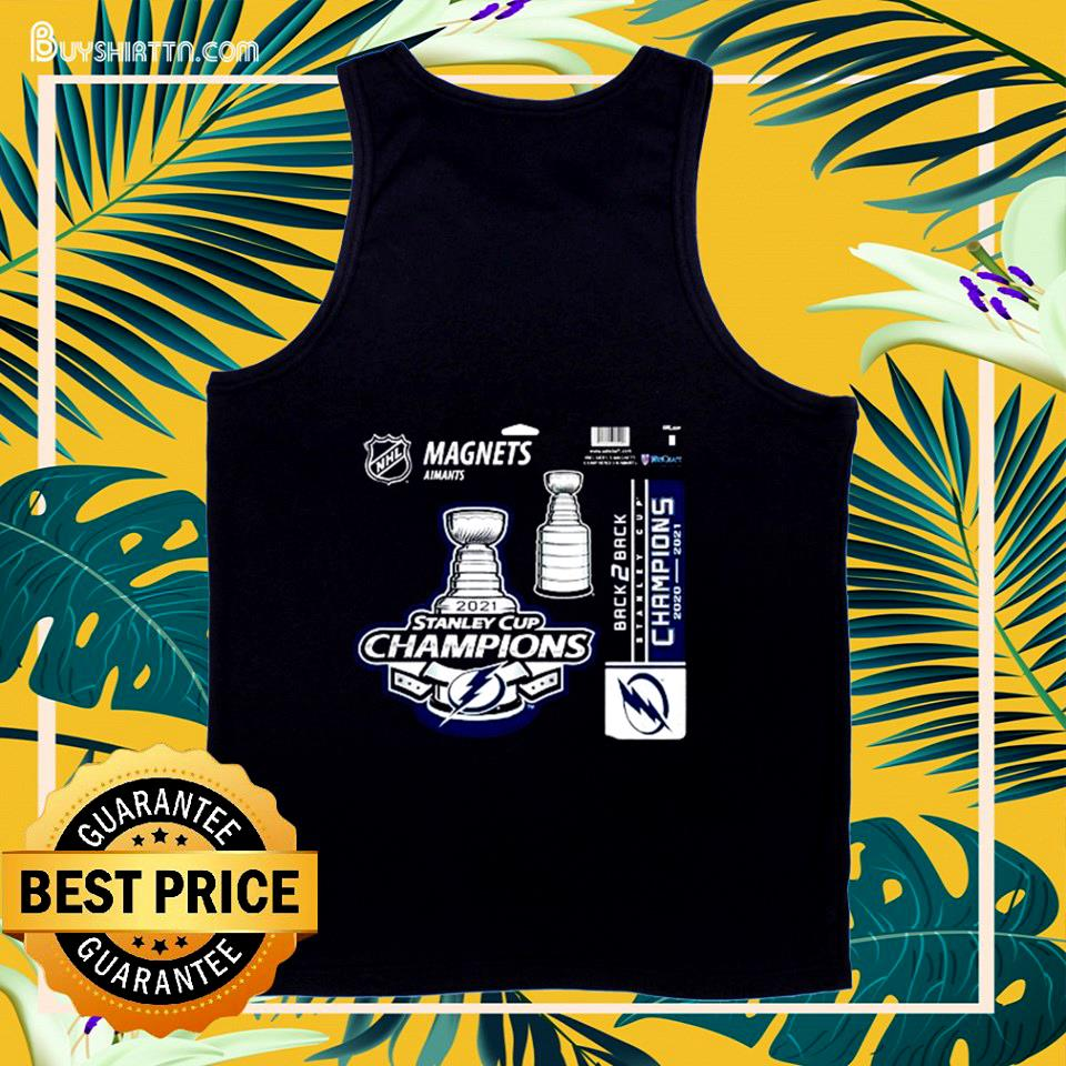 Tampa Bay Lightning magnets aimants 2021 Stanley Cup Champions tank top