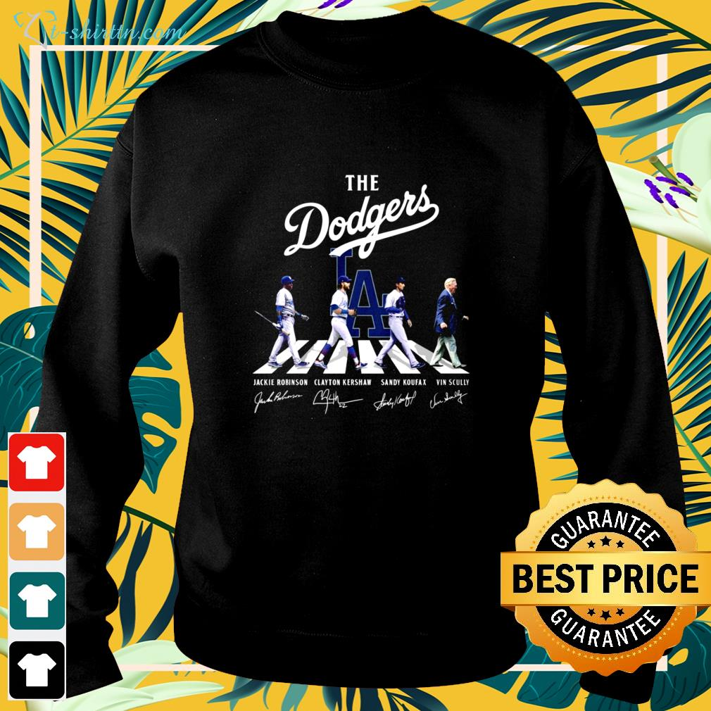 The Dodgers players and Vin Scully Abbey Road signature sweater