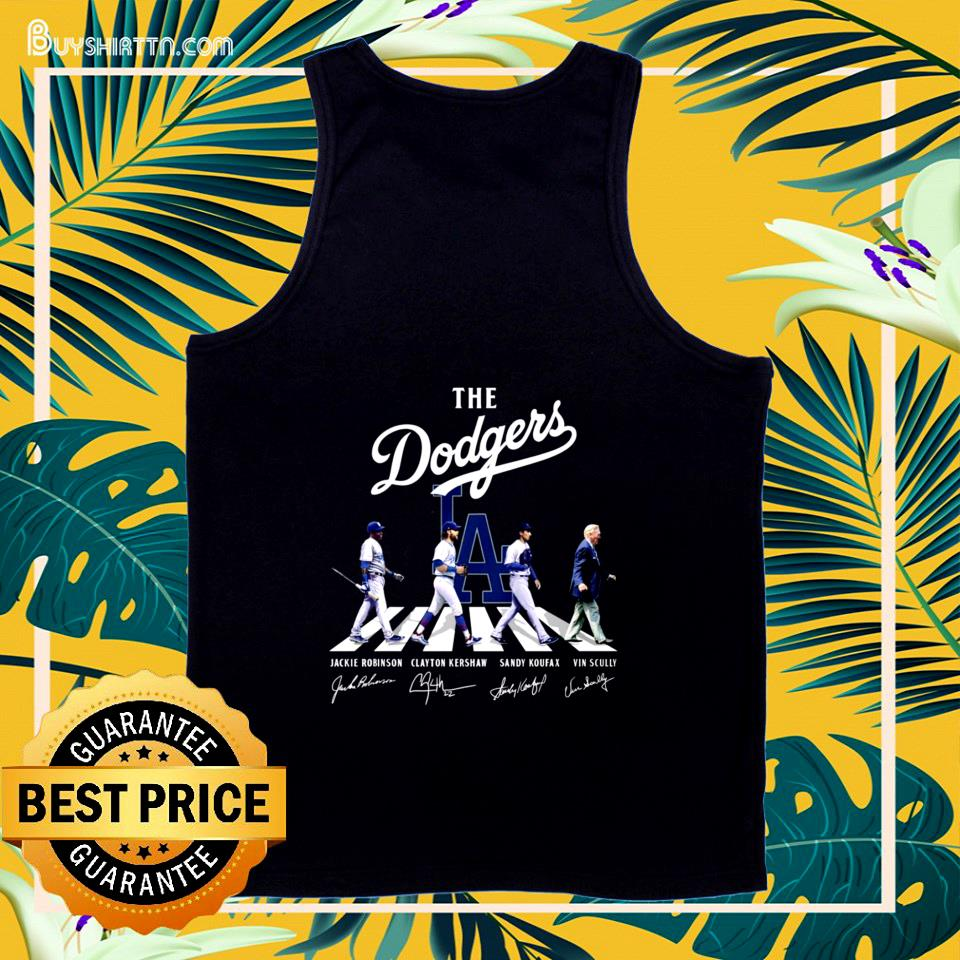 The Dodgers players and Vin Scully Abbey Road signature tank top