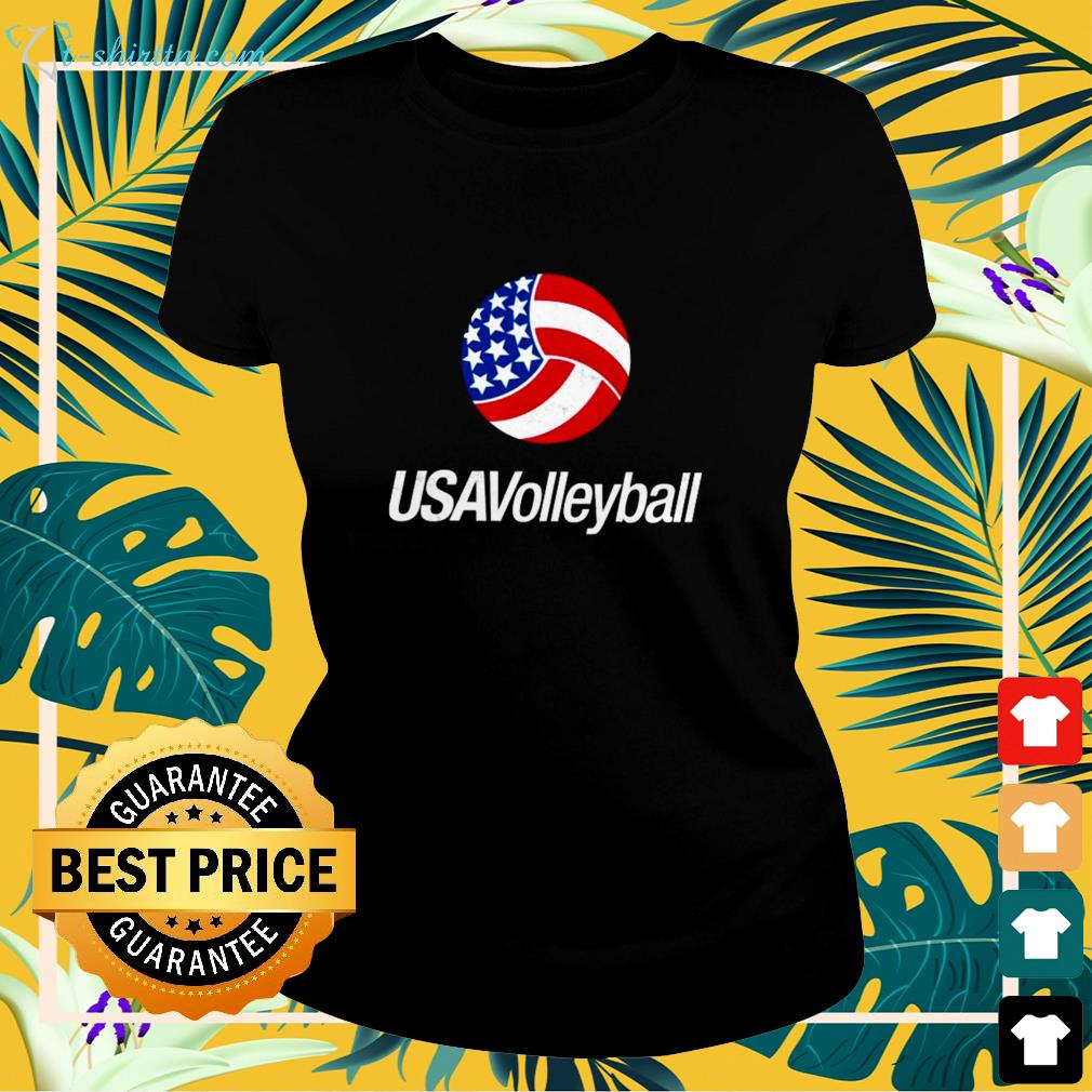 USA Volleyball red ladies-tee
