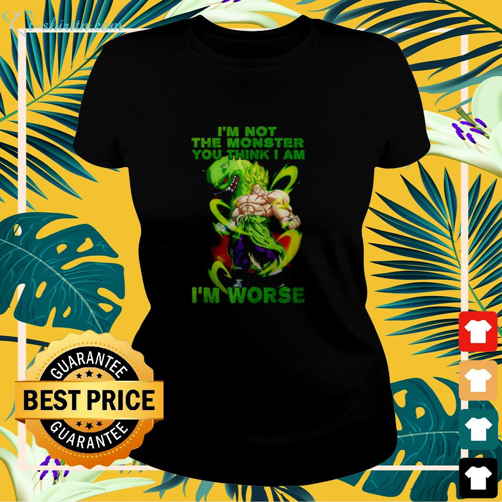 Vegeta I'm not the monster you think I am  ladies-tee