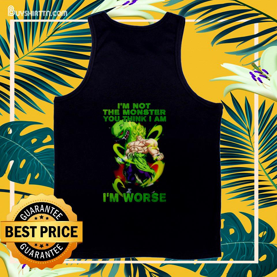 Vegeta I'm not the monster you think I am  tank top