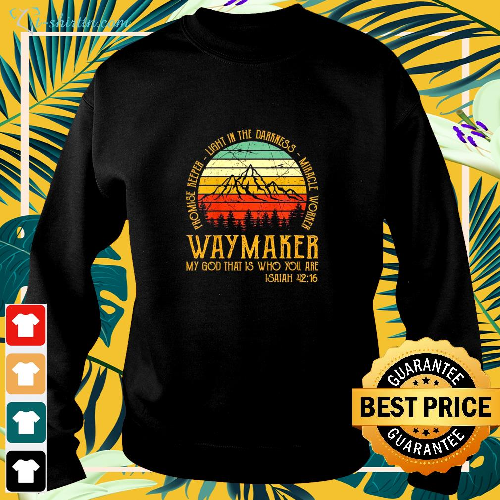 Waymaker miracle worker promise keeper christian vintage sweater