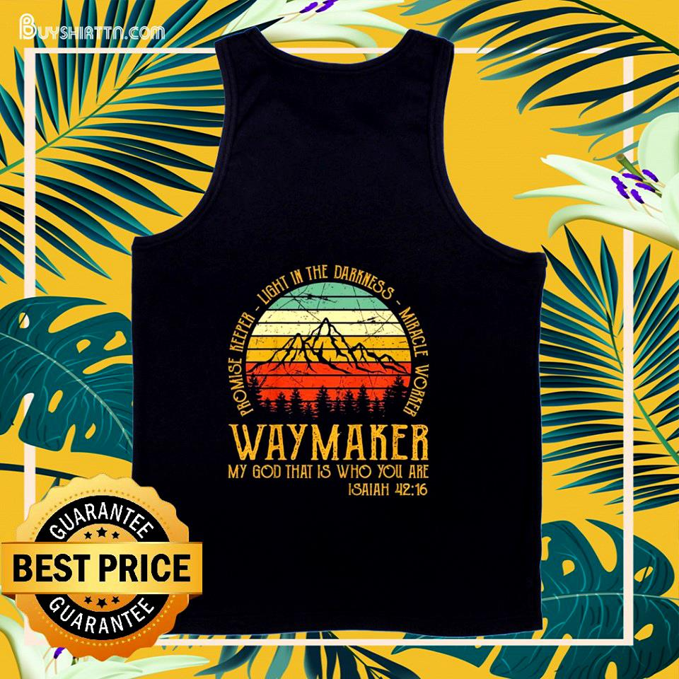 Waymaker miracle worker promise keeper christian vintage tank top