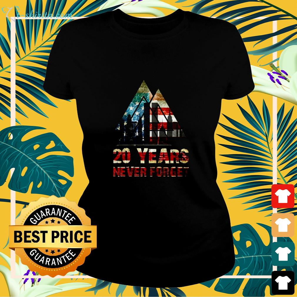20 Years never forget USA  ladies-tee