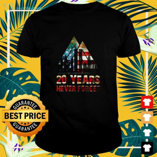 20 Years never forget USA shirt