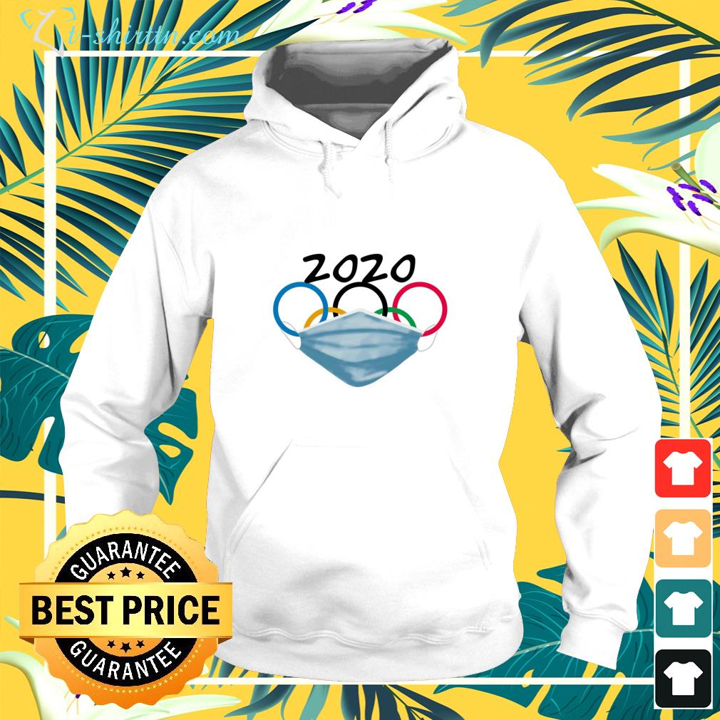 2020 Olympic Rings with mask hoodie