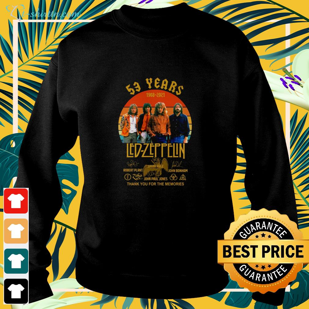 53 years 1968-2021 Led Zeppelin vintage signatures sweater