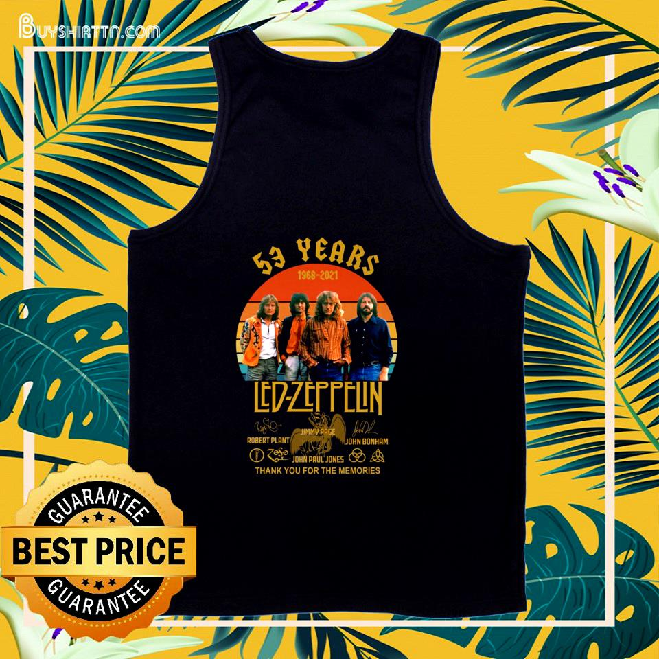 53 years 1968-2021 Led Zeppelin vintage signatures tank top
