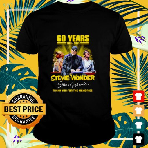 60 years 1961 2021 Stevie Wonder thank you for the memories shirt