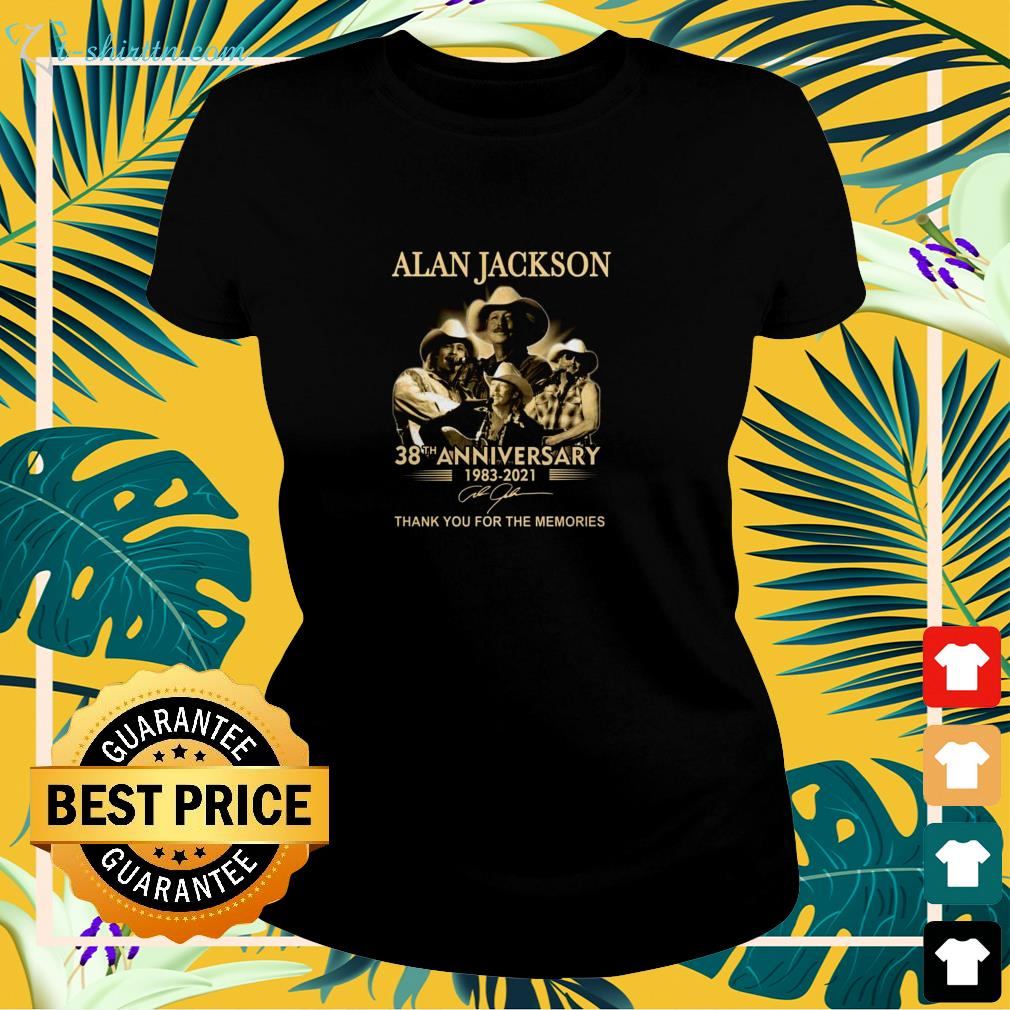 Alan Jackson 38th Anniversary 1983-2021 thank you for the memories signature ladies-tee