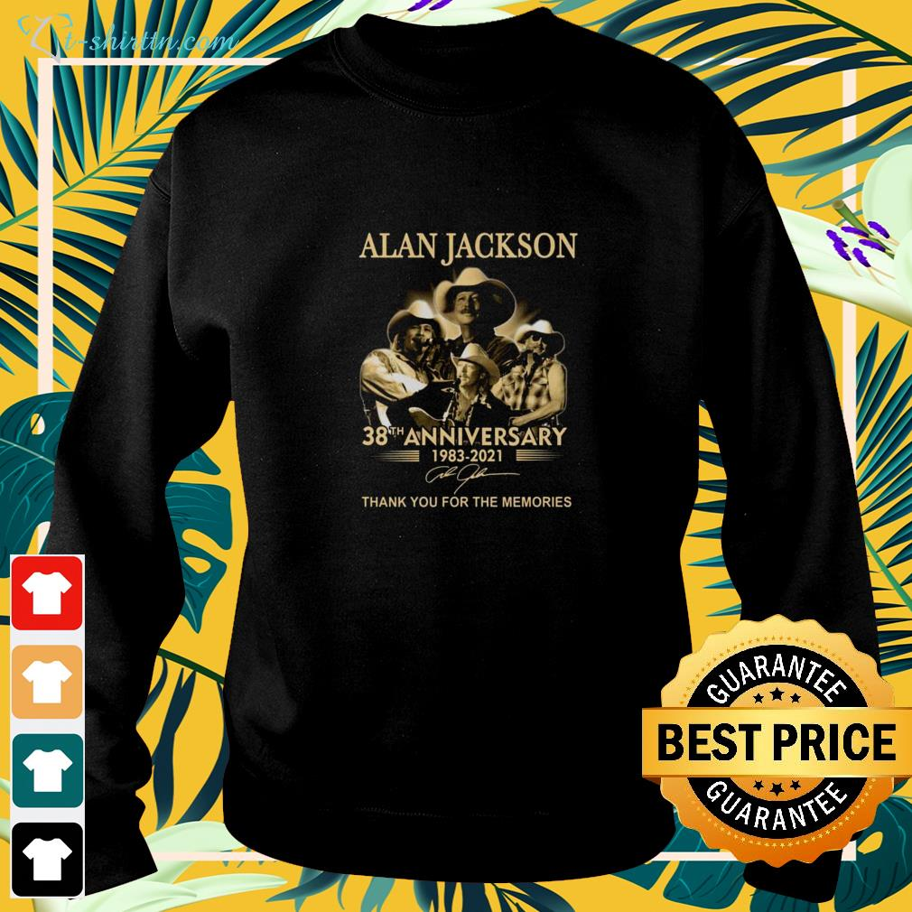Alan Jackson 38th Anniversary 1983-2021 thank you for the memories signature sweater