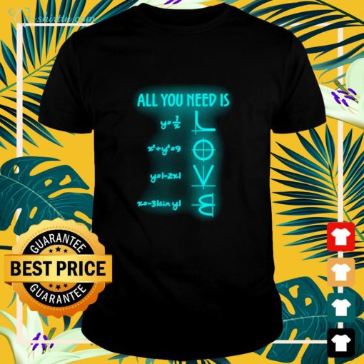 All you need is Math lover shirt