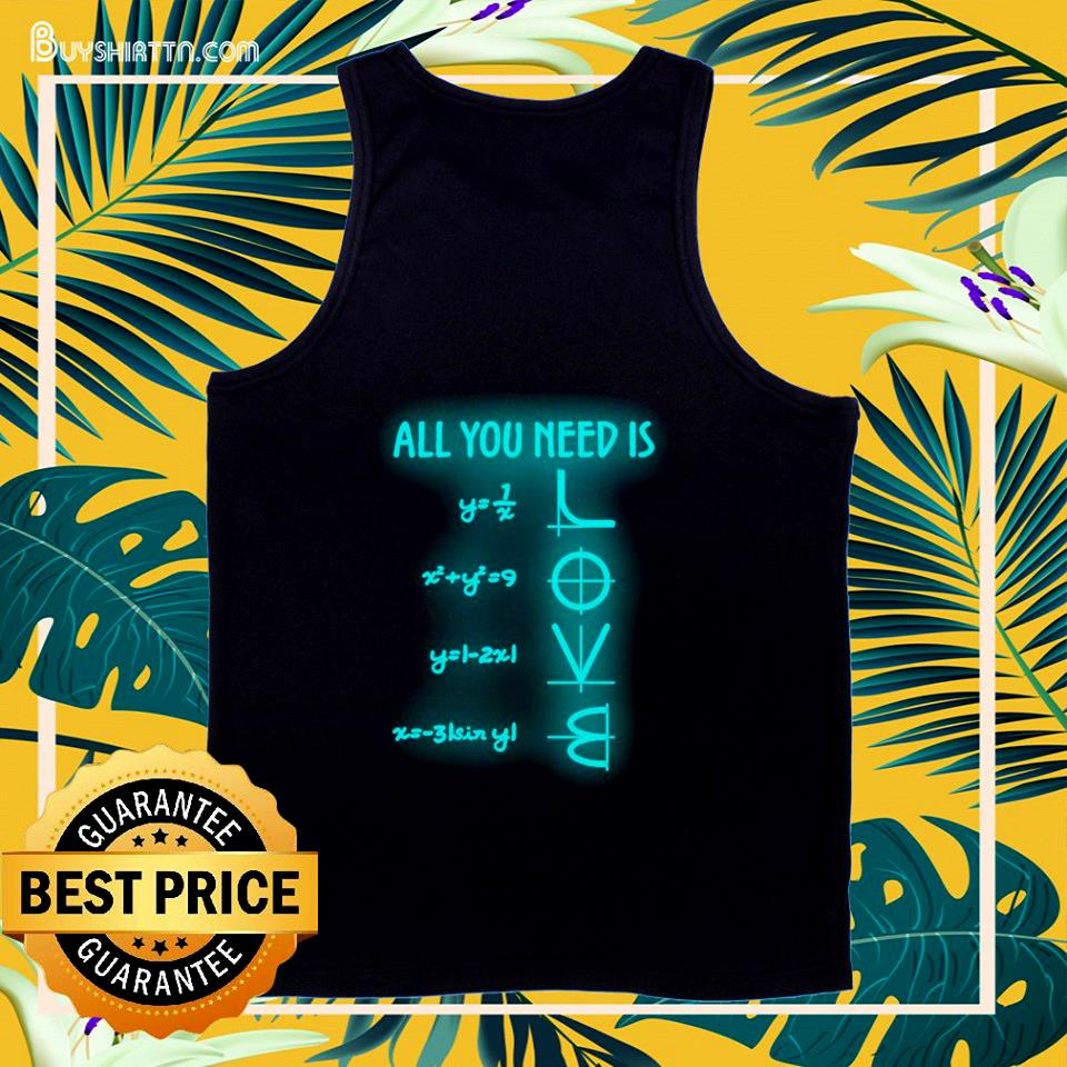 All you need is Math lover tank top