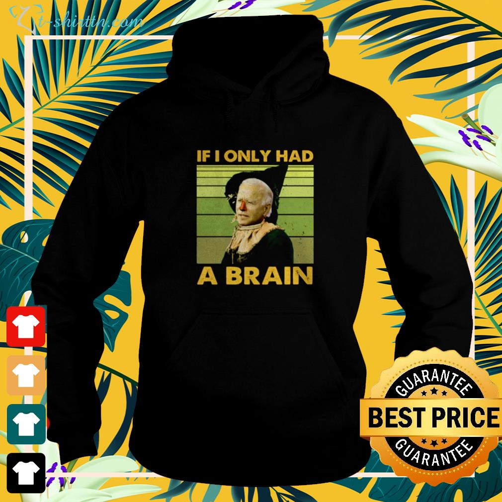 Biden if I only had a brain funny hoodie