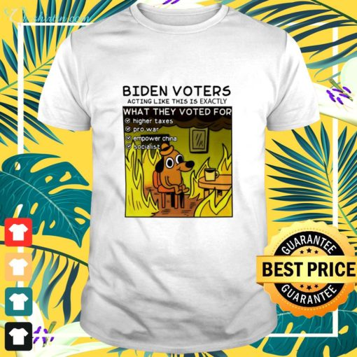 Biden Voters acting like this is exactly shirt