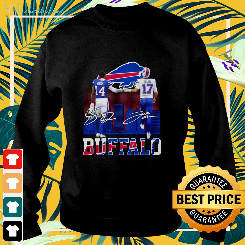 Buffalo Diggs and Allen signatures sweater