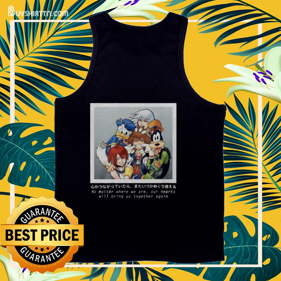 Cartoon no matter where we are our hearts  tank top
